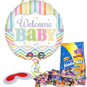 Welcome Baby Brights Baby Shower Pull String Economy Pinata Kit
