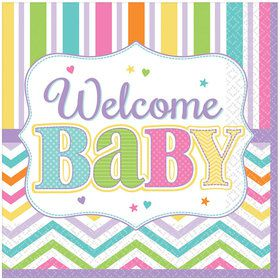 Welcome Baby Luncheon Napkins (36 Count)