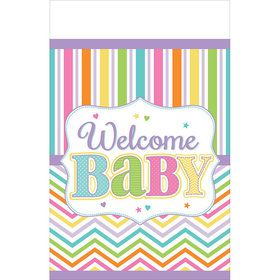 Welcome Baby Plastic Table Cover (Each)