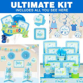 Welcome Little One Boy Baby Shower Ultimate Tableware Kit (Serves 8)