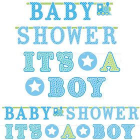 Welcome Little One Boy Banner Signs (2 Pack)