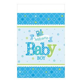 Welcome Little One Boy Paper Table Cover (Each)