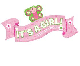 Welcome Little One Girl Banner Ballloon (Each)