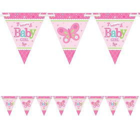 Welcome Little One Girl Pennant Banner (Each)