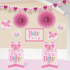 Welcome Little One Girl Room Decorating Kit (Each)