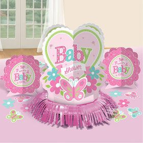 Welcome Little One Girl Table Decorating Kit (Each)