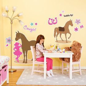 Western Cowgirl Party Giant Wall Decal