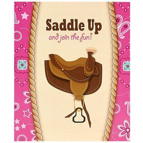 Western Cowgirl Party Invitations (8)