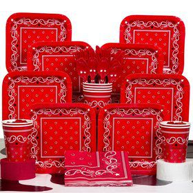 Western Deluxe Party Tableware Kit Serves 8