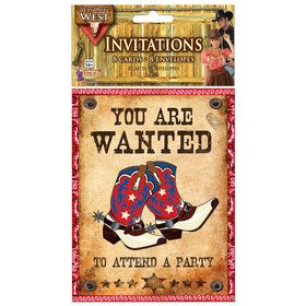 Western Invitations (8 Count)
