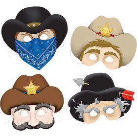 Western Masks (4 Pack)