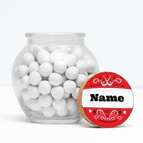 "Western Personalized 3"" Glass Sphere Jars (Set of 12)"