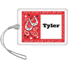 Western Personalized Bag Tag (Each)