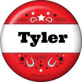 Western Personalized Button (Each)