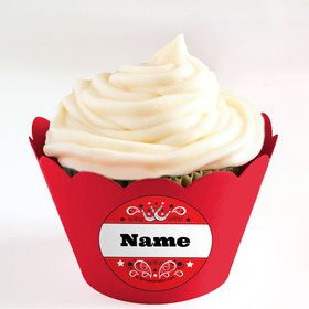 Western Personalized Cupcake Wrappers (Set of 24)
