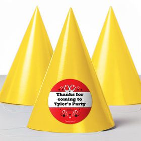 Western Personalized Party Hats (8 Count)