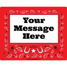 Western Personalized Rectangular Stickers (Sheet of 15)