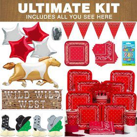 Western Ultimate Party Tableware Kit Serves 8
