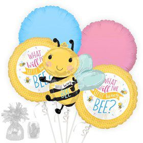 What Will It Bee Gender Reveal Balloon Bouquet Kit