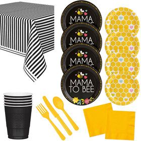 What Will It Bee Gender Reveal Tableware Kit (For 16 Guests)
