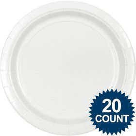 "White 10"" Paper Plates, 20 ct."