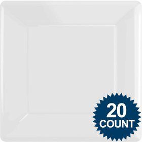 "White 10"" Square Paper Plates, 20 ct."