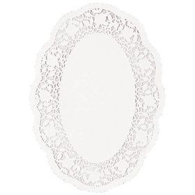 """White 12"""" Round Doilies (12 Count)"""