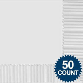 White 2-Ply Luncheon Napkins, 50 ct.