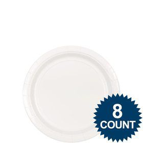 "White 7"" Paper Plate, 8ct."