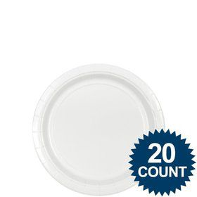 "White 7"" Paper Plates, 20 ct."