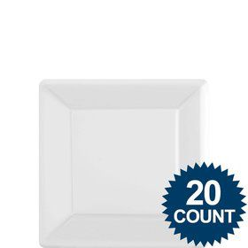 "White 7"" Square Paper Plates, 20 ct."