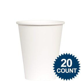 White 9 oz. Paper Cups, 20 ct.