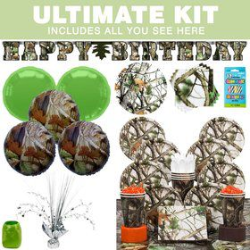 White Camo Party Ultimate Tableware Kit Serves 8