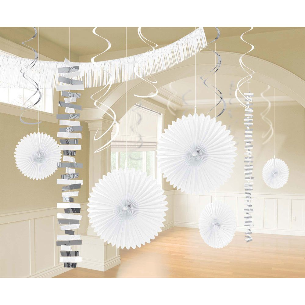 White Decoration Kit | White / Silver Decorations tableware and