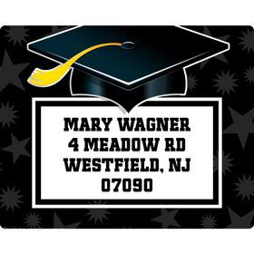 White Grad Personalized Address Labels (Sheet Of 15)