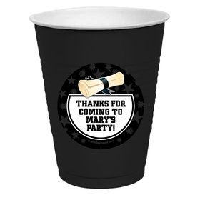 White Grad Personalized Party Cups