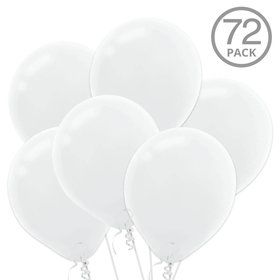 White Latex Balloons (72 Count)
