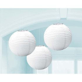 White Paper Lantern Decorations (3 Count)
