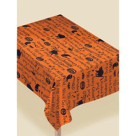 "Wicked Words Printed Fabric Table Cover - 60"" x 84"""