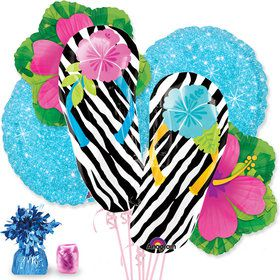 Wild Isle Hibiscus Balloon Bouquet Kit