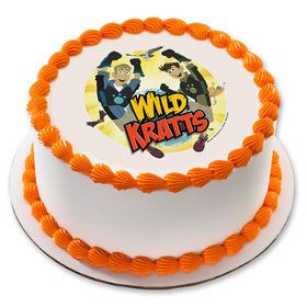 "Wild Kratts 7.5"" Round Edible Cake Topper (Each)"