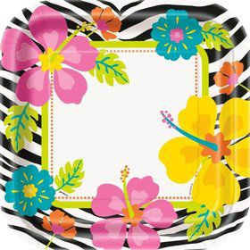 "Wild Luau 9"" Luncheon Plates (8 Pack)"