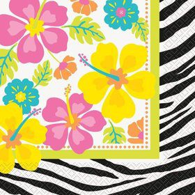 Wild Luau Luncheon Napkins (20 Pack)