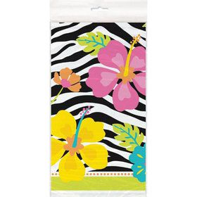 Wild Luau Plastic Table Cover (Each)