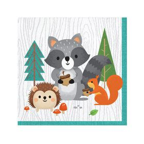Wild One Woodland Beverage Napkins (16)