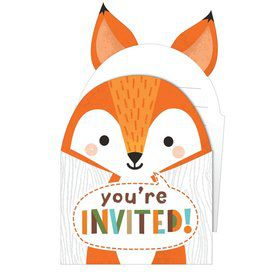 Wild One Woodland Folded Invitations (8)
