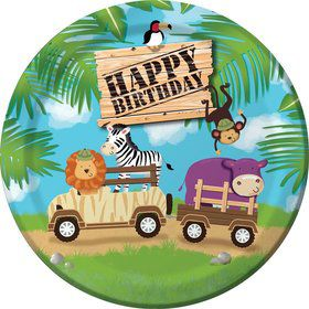 "Wild Safari 9"" Luncheon Plates (8 Pack)"