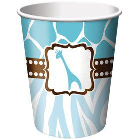Wild Safari Blue 9oz Cups (8 Pack)