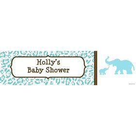 Wild Safari Blue Personalized Banner (Each)