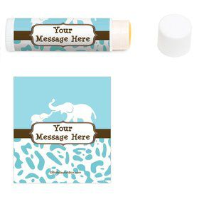Wild Safari Blue Personalized Lip Balm (12 Pack)